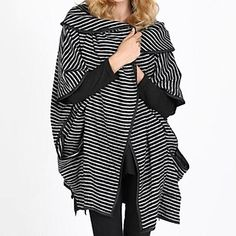 ZhuLanChao®Women's Big Yards Dress Coat Stripes Outerwear - USD $ 30.59