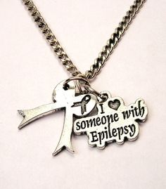 I love someone with Epilepsy  charm  necklace by MyTinyTemptations, $12.00