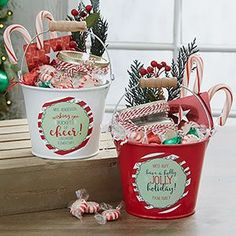 Personalized Teacher Gift - Holly Jolly Metal Bucket - 19334 christmas gifts for teachers Diy Holiday Gifts, Jolly Holiday, Homemade Christmas Gifts, Diy Gifts, Homemade Gifts For Friends, Unique Gifts, Holiday Treats, Christmas Gift Baskets, Teacher Christmas Gifts