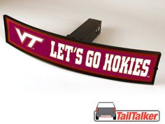 Virginia Tech Lets Go Hokies Trailer Hitch Cover Illuminated NCAA Officially Licensed by tailtalker on Etsy