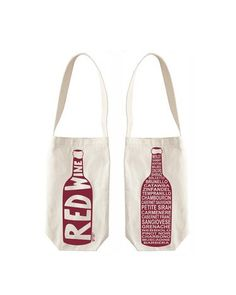 Red wine canvas bag
