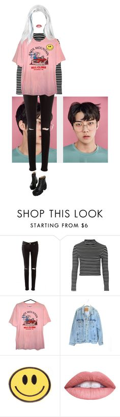 """Untitled #53"" by stomey ❤ liked on Polyvore featuring Topshop, Levi's and Dr. Martens"