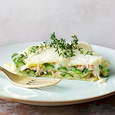 Lasagne ze szparagami i łososiem | Kwestia Smaku