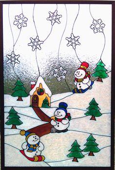Gallery Glass Class: Snow Fun is So Fun!