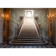 Paris Photography, Versailles, Stairway, French Decor, Paris Print ($16) ❤ liked on Polyvore featuring home, home decor, wall art, photo wall art, parisian wall art, parisian home decor, photography wall art and french wall art