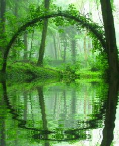 Land Art - natural arch and reflection Beautiful World, Beautiful Places, Beautiful Pictures, Amazing Nature, Amazing Art, Belle Photo, Mother Earth, Beautiful Landscapes, Wonders Of The World