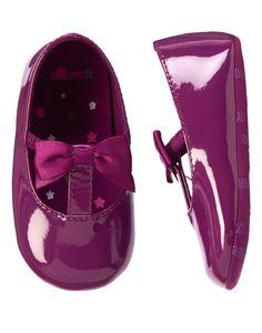 Patent T-Strap Crib Shoes at Gymboree Sugar plum size 3.... $13