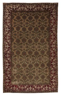 """Kum Kapi"" carpet  Istambul (?), Paris (?), 19th/20th century Silk, silver threads Persian knot open to the left 225.5 × 147.5 cm  © Calouste Gulbenkian Foundation/Calouste Gulbenkian Museum.  Calouste Gulbenkian Foundation - Rights reserved"