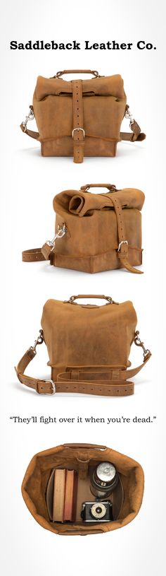 The Saddleback Leather Dry Bag in Tobacco | 100 Year Warranty | $310.00