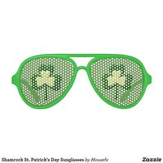 Shamrock St. Patrick's Day by Sunglasses MouseFxArt.Com (Mousefx Art Zazzle Store)