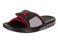 72f76f8b1d7cf9 Jordan Nike Mens Hydro III Retro BlackUniversity Red Sandal 11 Men US --  You can find out more details at the link of the image. (This is an  affiliate link)