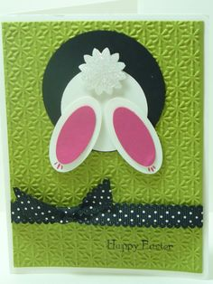 stampin up pinterest | made this cute bunny jumping into his hole using Stampin' Up ...