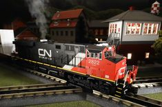 Buy It Now or Find It Locally http://mthtrains.com/30-20310-1  On the rails today the just arrived and in-stock MTH RailKIng O Gauge Canadian National ES44AC 30-20310-1. The RailKing ES44AC operates on O-31 curves and this new Canadian National model has a MSRP of $329.95. Ask your MTH Dealer about getting one today.