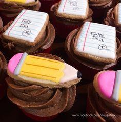 Cupcakes Día del maestro. Nougat Creaciones México