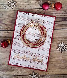 I CASEd @Krissybuck design Love the idea :) #stampinup #stampinupdeutschland #swirlyscribbles #wunderbarverwickelt #jvpapercrafts #papercrafting #kulricke #weihnachtskarte #christmascard #frohesfest #weihnachtszeit #case #notenpapier
