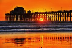 Oceanside Pier - Sun shines thru