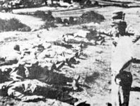 WWII. - 1941. - Croatia / NDH - Bodies of Orthodox Serbs executed by the Ustashi contingents at Sinj on August 26,1941.