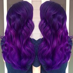 Brilliant purple hair color and long purple hair. Artist credit to come… Pretty Hair Color, Beautiful Hair Color, Hair Color Purple, Hair Colors, Long Purple Hair, Dark Purple, Hair Addiction, Bright Hair, Rainbow Hair