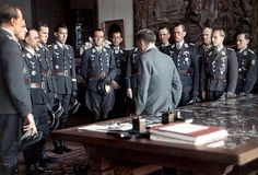 Hitler in a meeting with his leading generals and admirals on 3 February 1933
