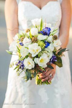 winter wedding bouquet BBT ballpark winston salem nc