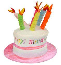 86d1e78637a Adult Happy Birthday Hat Cake Hat with Mock Candles Gift Hat 2 Colours New.  Articulos De CumpleañosArticulos De FiestaSombreros Y GorrasSombreros Para  ...