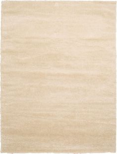 Ivory 9' 0 x 12' 0 Luxe Solid Shag Rug | Area Rugs | eSaleRugs