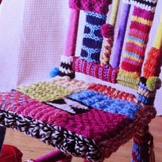 Yarn Bombed Chair