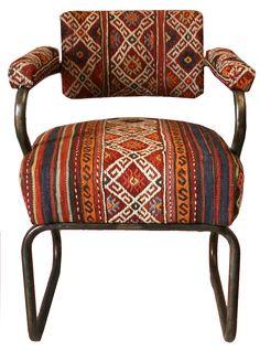 Modern Kilim Metal Chair