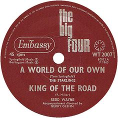 The Big Four (A World Of Our Own / King Of The Road) - The Starlings / Redd Wayne (WT2007) Apr '65
