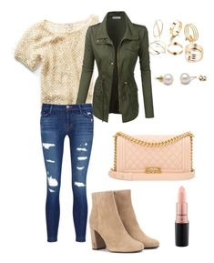 """Morning Sparkles"" by veronica-g3 ❤ liked on Polyvore featuring Free People, LE3NO, J Brand, Chanel, Yves Saint Laurent and MAC Cosmetics"