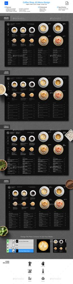 Minimalist Photography Coffee Menu A3 — Photoshop PSD #lunch #fine • Download ➝ https://graphicriver.net/item/minimalist-photography-coffee-menu-a3/21729918?ref=pxcr