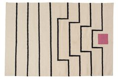 Aelfie rugs are designed in Brooklyn and handmade by artisans in India. 80% wool, 20% cotton. Reversible. Sizes are listed in feet. Spot clean. Vacuum. Handmade. Unless noted below, all sizes are in stock and will ship within 3-5 business days! 9'x12' and 6'x9' sizes are all made-to-order and will arrive in 90 days. Forcustom orders, please contact us. Need a rug pad? This rug is like if Post-Painterly Abstraction had a baby with a cute feminist girl named Xephyr from Vermont who has…