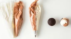 """Sometimes two is better than one! Martha shows how to create this """"soft-serve"""" look from a pastry bag filled with two different hues."""