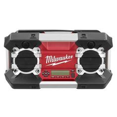 2790-20 Milwaukee Jobsite Radio: Powered by all Milwaukee® 12V-28V batteries including M series, V series and NiCad; the Jobsite Radio delivers the highest reception accuracy and signal clarity in its class with an exclusive AM/FM tuner and digital processor. (Click the image to see our lower than manufacture price)