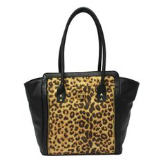 Kardashian Kollection Women's Large Tote - Leopard Print