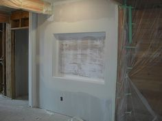 dry wall cutout for tv | Television cutout | Let's Build On The Lake!