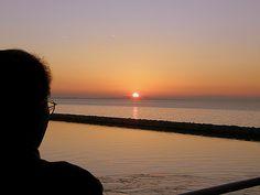 Sunset in Patras Port, Ahaia, Peloponnesus_ Greece