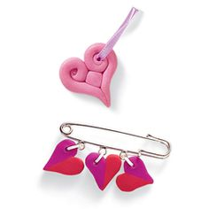 Heart Beads - Bake your own heart beads for a cute Valentine's Day gift.