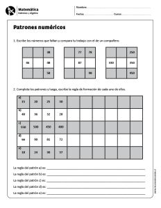 Patrones numéricos