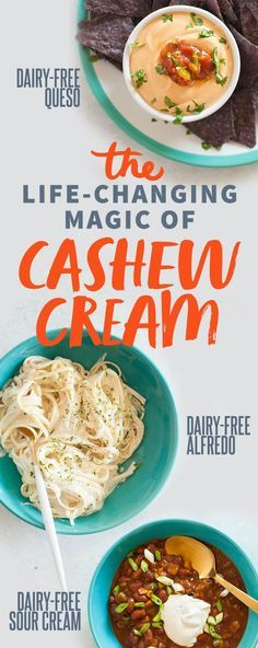 Cream The life-changing magic of cashew cream from - with 7 different incredible recipes!The life-changing magic of cashew cream from - with 7 different incredible recipes! Cashew Recipes, Dairy Free Recipes, Vegan Gluten Free, Vegetarian Recipes, Healthy Recipes, Cream Recipes, Healthy Habits, Plant Based Eating, Plant Based Diet