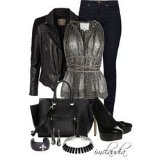 Black Pumps and Jeans, created by imclaudia-1 on Polyvore