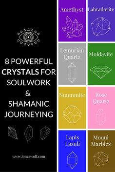 Create your own energetic portal to your Higher Self using these 8 crystals . Crystals And Gemstones, Stones And Crystals, Chakras Reiki, Spirit Science, Crystal Meanings, Samana, Rocks And Gems, Healing Stones, Healing Crystals