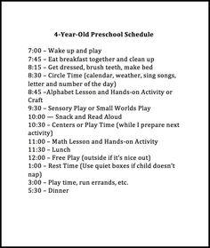 Weekly Preschool Planner {Free Printable}                                                                                                                                                                                 More