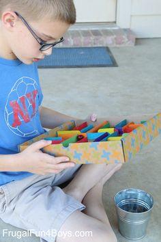 How to Make a Cardboard Box Labyrinth