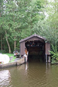 A boat shed on the Norfolk Broads