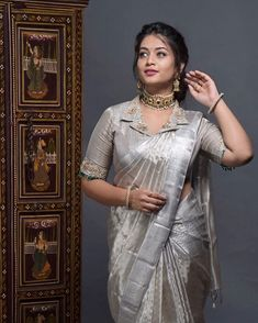Shopzters | Silver and Grey Sarees- For The Bold And The Beautiful!