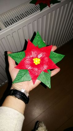 Poinsettia made of clay diy