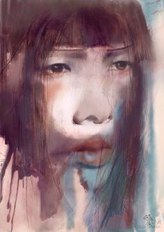 #olgadynkina #watercolor #face #portrait #women #fashion #illustrator #draw #illustration #girl #fashiongirl