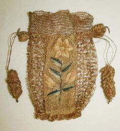 Object Name Bag (Drawstring) Date late 18th–early 19th century
