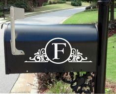 Personalized Monogram Custom Mailbox Decal on Etsy, $10.00